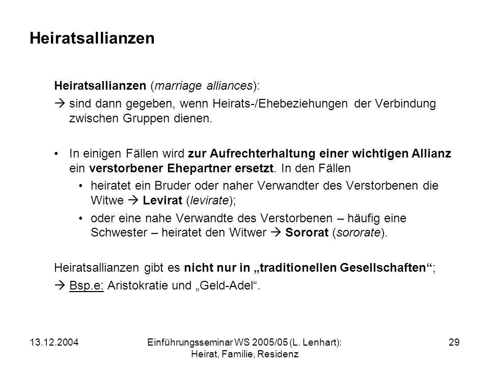 13.12.2004Einführungsseminar WS 2005/05 (L.