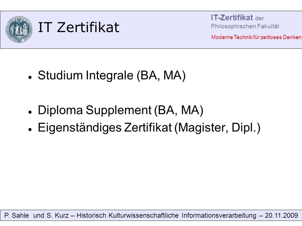 IT Zertifikat P. Sahle und S.