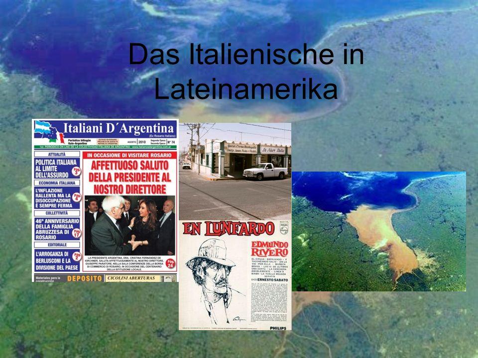Inhalt Río de la Plata Sprachexterne Hintergründe der Kontaktsituation - it.