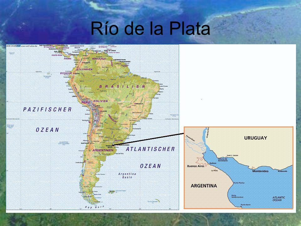 Mündungstrichter der südamerikanischen Ströme Parana & Uruguay Größte Städte: Montevideo, Buenos Aires Seit über 150 Jahren Ziel ital.