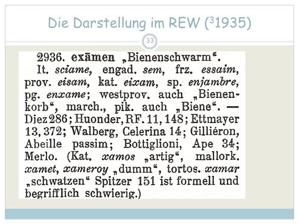33 Die Darstellung im REW ( 3 1935)
