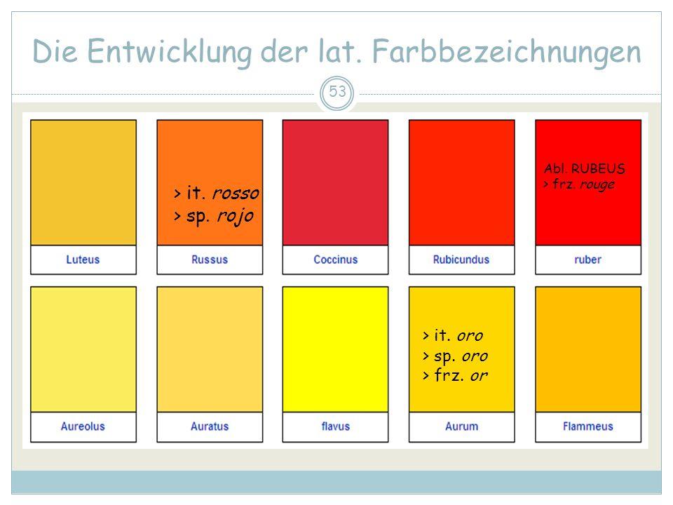 53 Die Entwicklung der lat.Farbbezeichnungen > it.