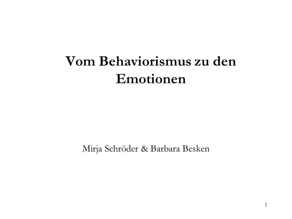 2 Vom Behaviorismus zu den Emotionen