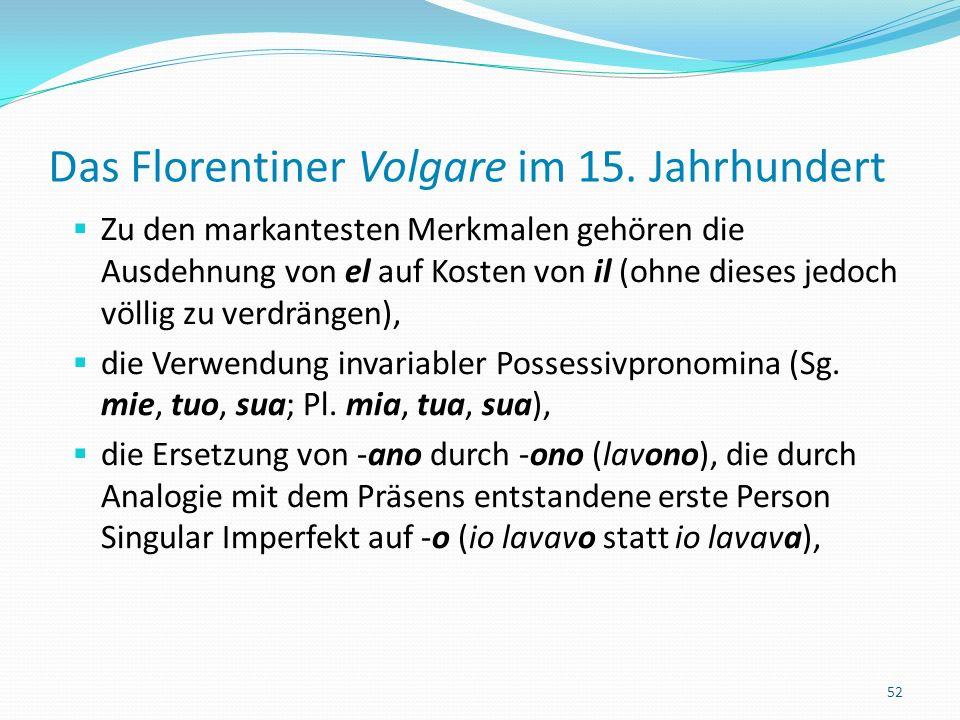 Das Florentiner Volgare im 15.