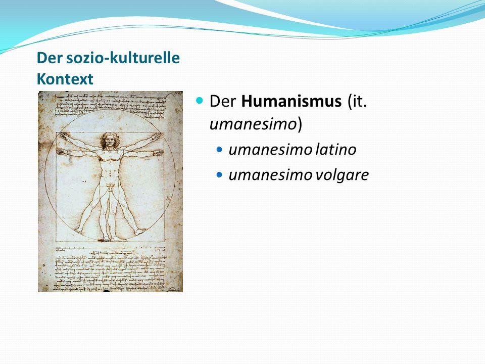 Die Auseinandersetzung mit Dante und Petrarca