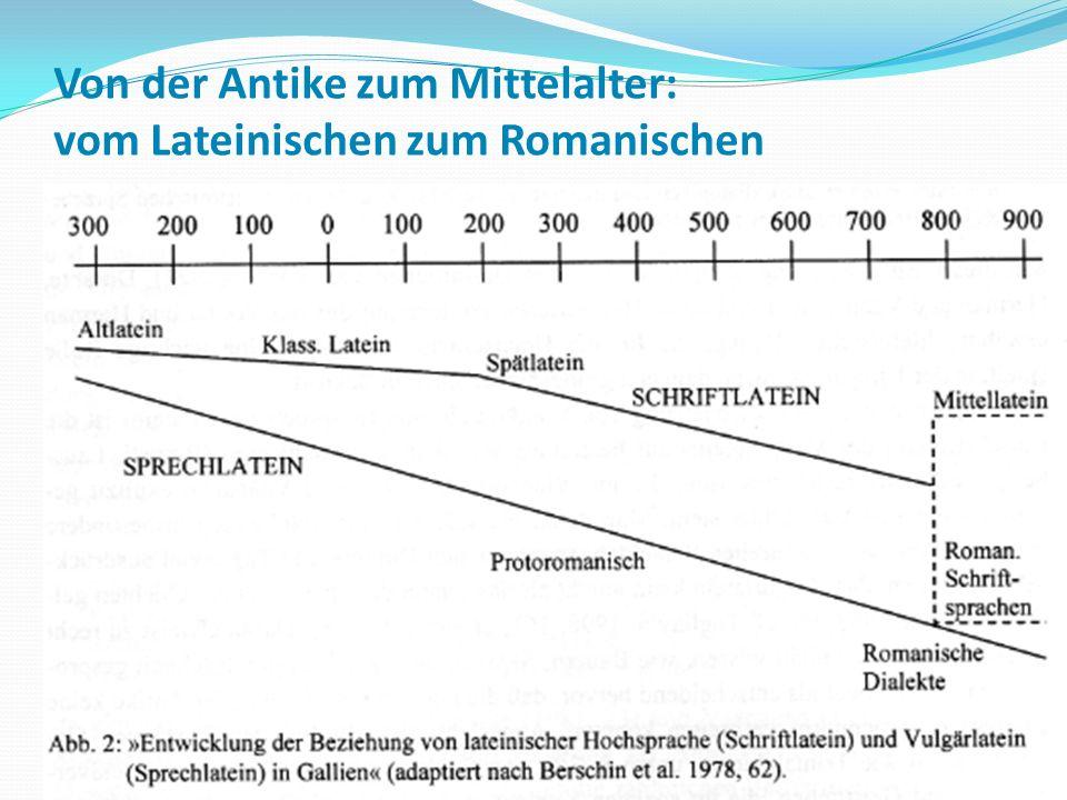 Von der Antike zum Mittelalter: vom Lateinischen zum Romanischen 47