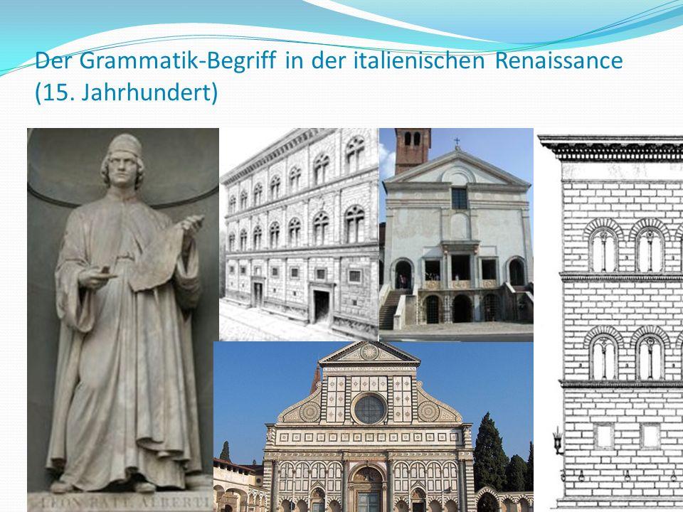 Der Grammatik-Begriff in der italienischen Renaissance (15. Jahrhundert) 72