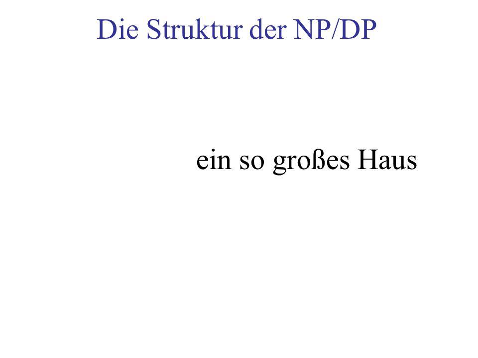Die Struktur der NP/DP ein so großes Haus