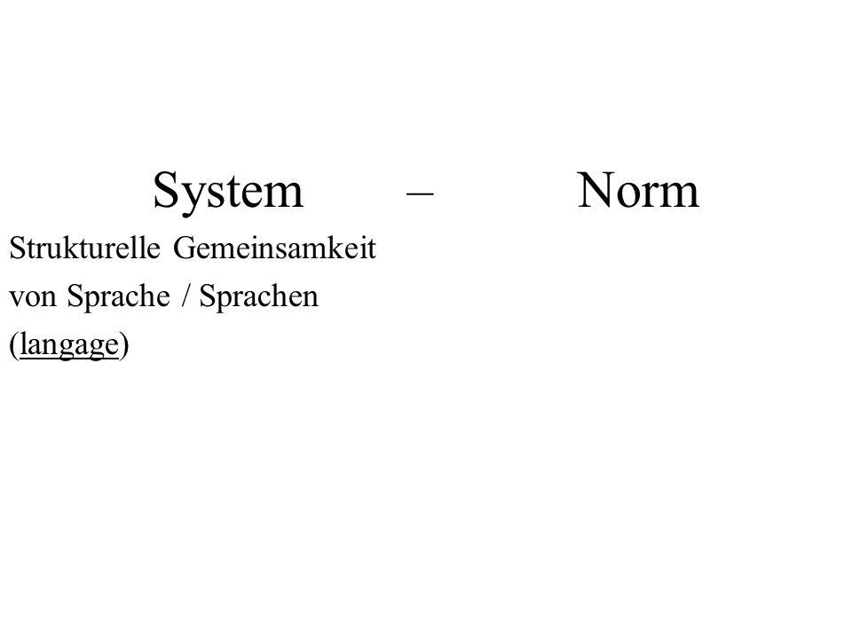 Strukturelle Gemeinsamkeit von Sprache / Sprachen (langage)