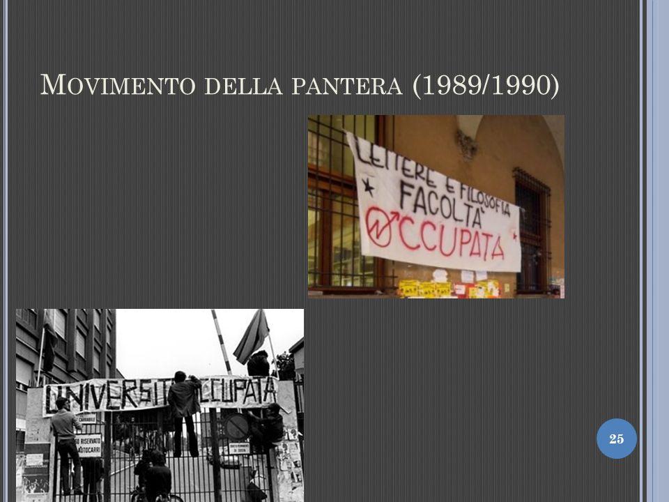 M OVIMENTO DELLA PANTERA (1989/1990) 25