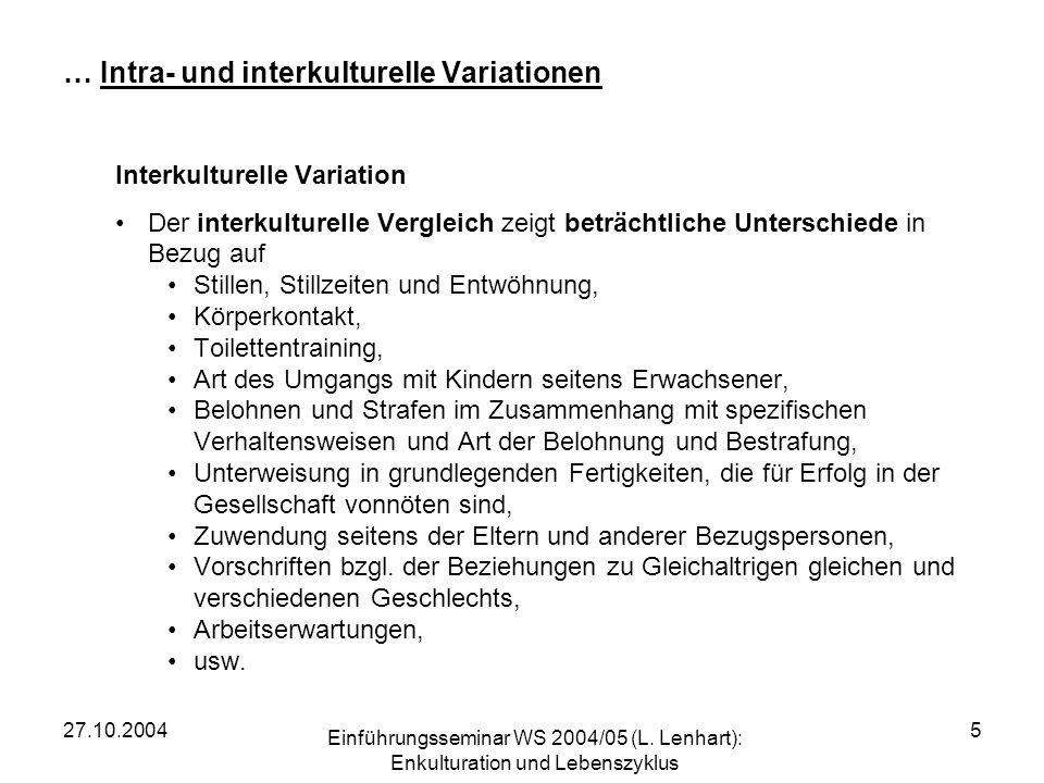 27.10.2004 Einführungsseminar WS 2004/05 (L.