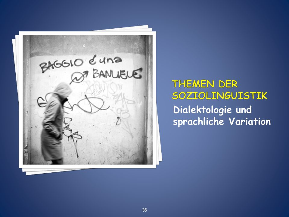 Dialektologie und sprachliche Variation 36