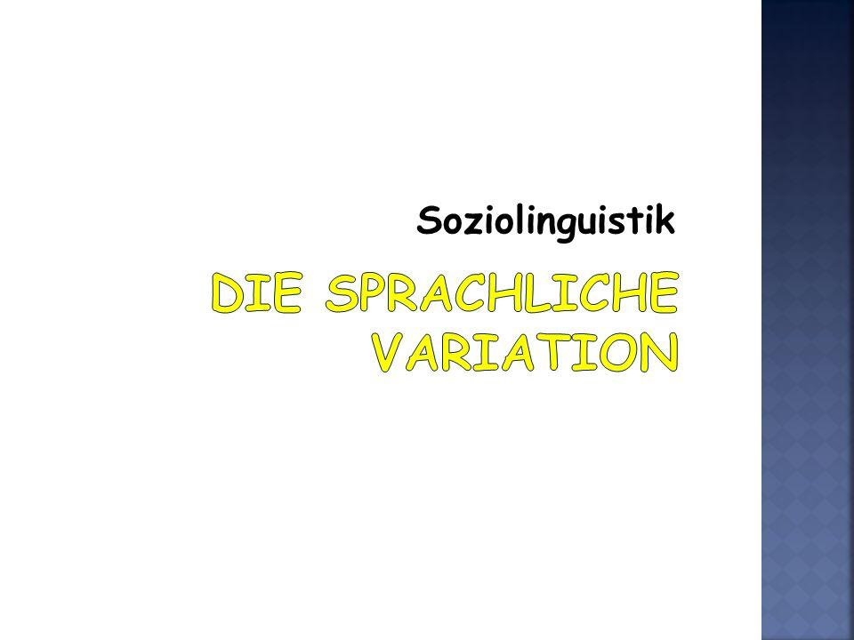 Soziolinguistik