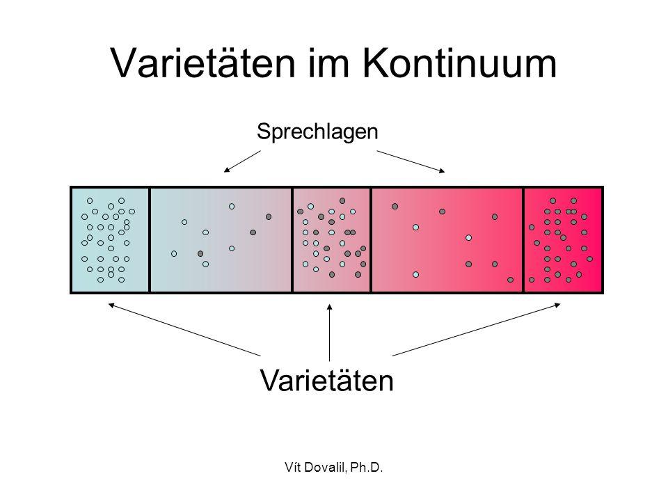 Vít Dovalil, Ph.D. Varietäten im Kontinuum Varietäten Sprechlagen