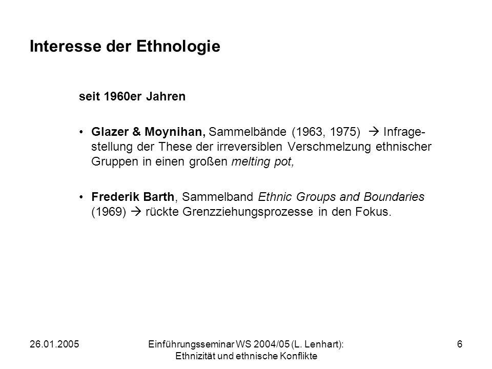 26.01.2005Einführungsseminar WS 2004/05 (L.