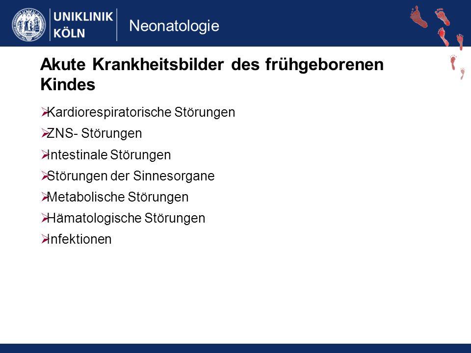 Neonatologie Periventrikuläre Leukomalazie Risikofaktoren: systemische Inflammation bei Geburt Z.n.