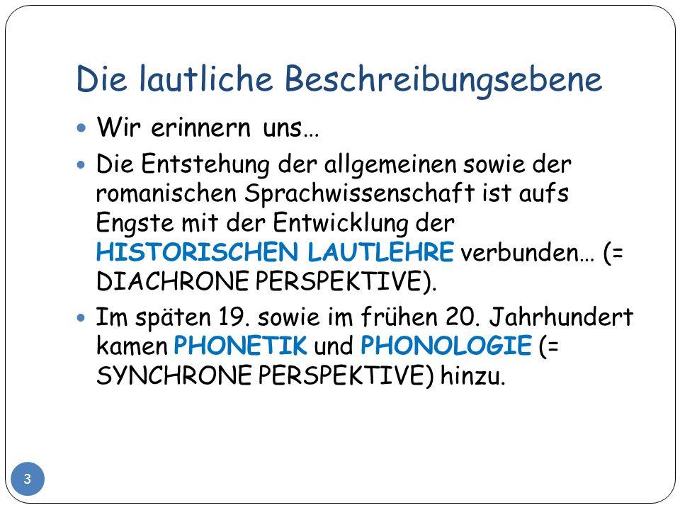 PHONETIK und PHONOLOGIE Als LINGUISTISCHE TEILDISZIPLINEN 4
