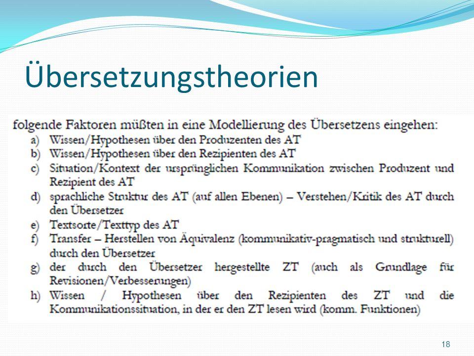 Übersetzungstheorien 18