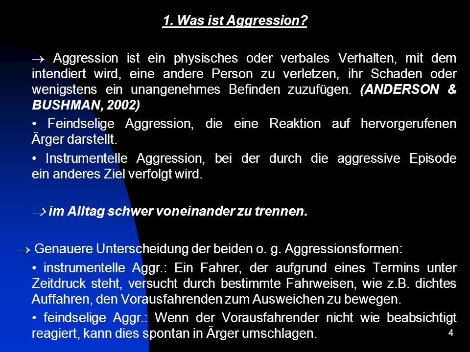 15 Quelle: Aggressionen im Straßenverkehr.