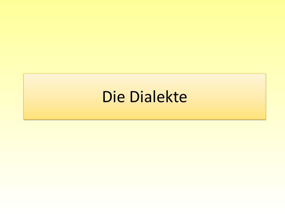 Die Dialekte