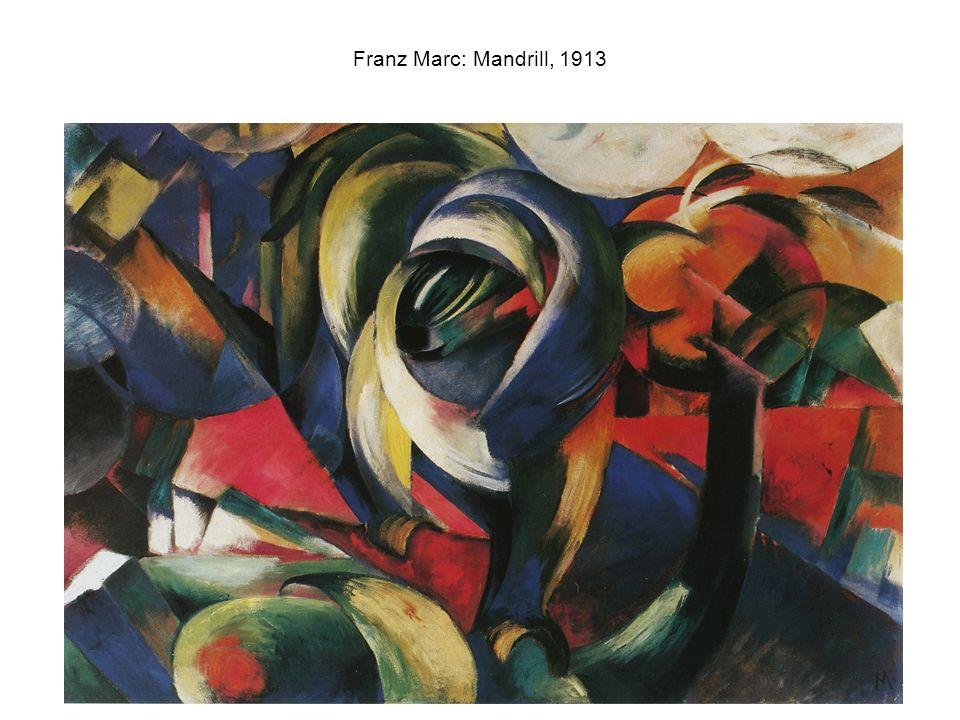 Franz Marc: Mandrill, 1913