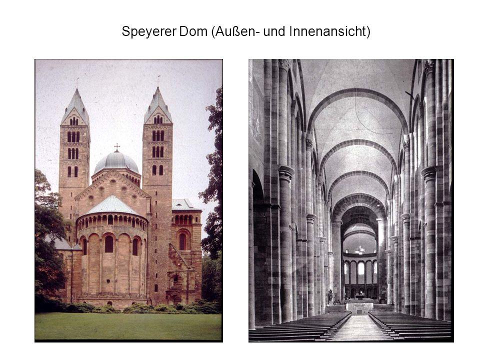 Speyerer Dom (Außen- und Innenansicht)