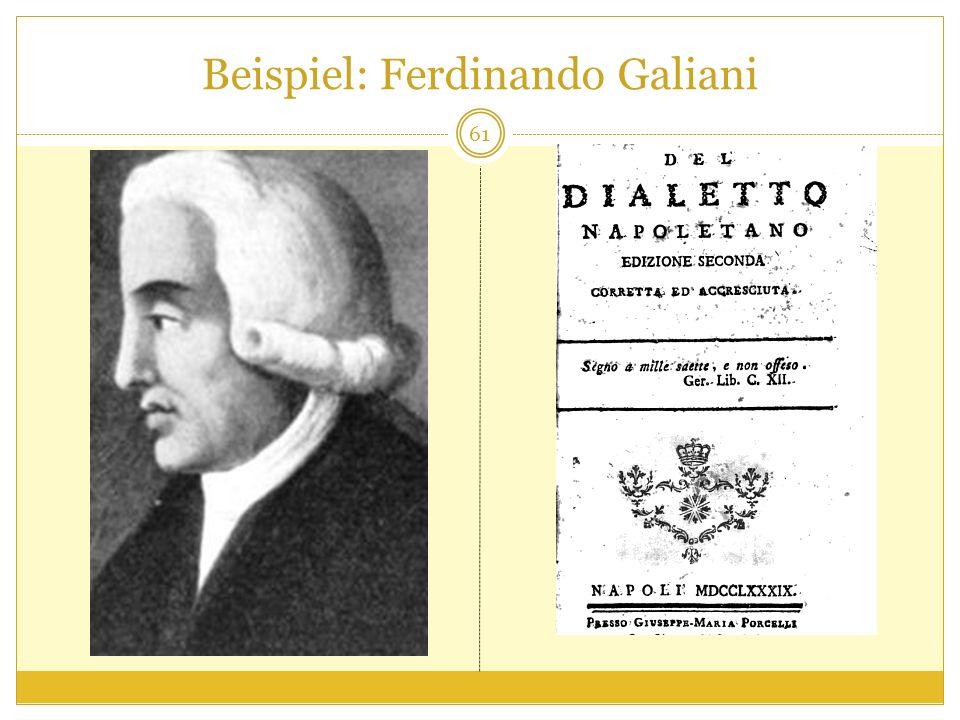 Beispiel: Ferdinando Galiani 61