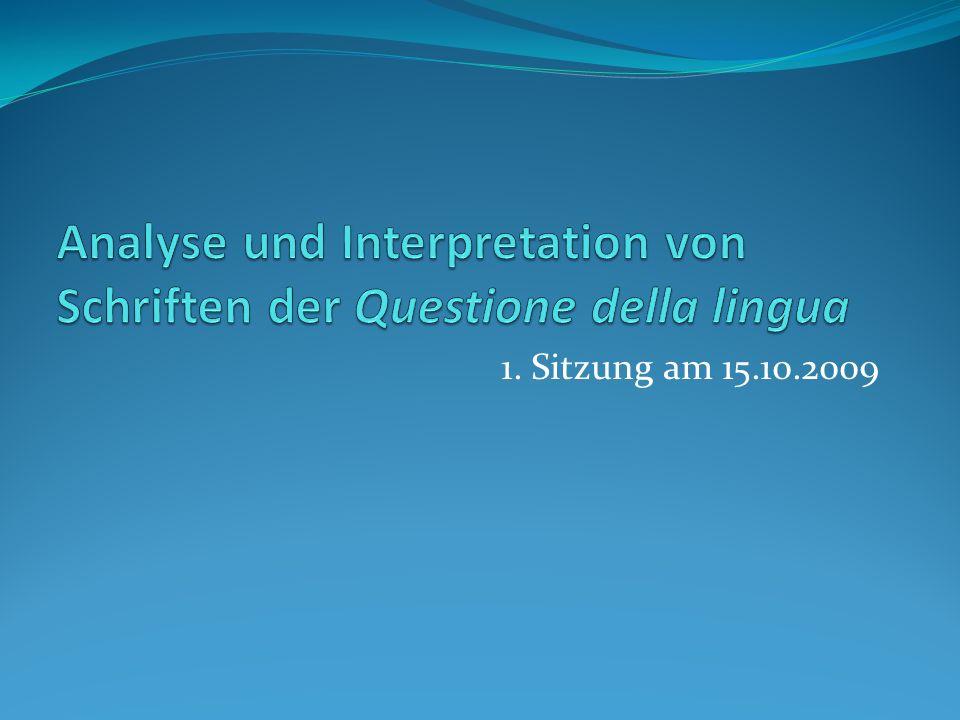 Die Questione della lingua z.B.