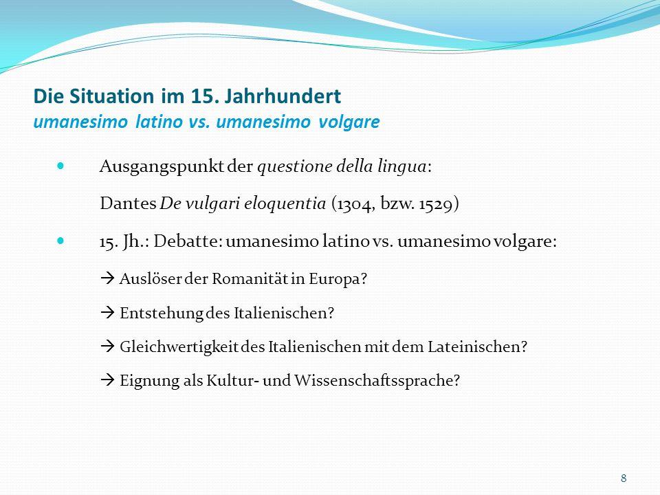 Die Questione della lingua Einer der wichtigsten Sprachtheoretiker des frühen 19.