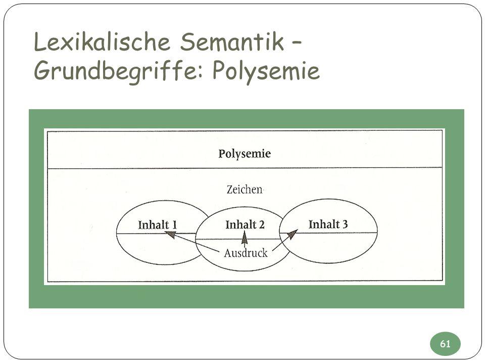 Lexikalische Semantik – Grundbegriffe: Polysemie 61