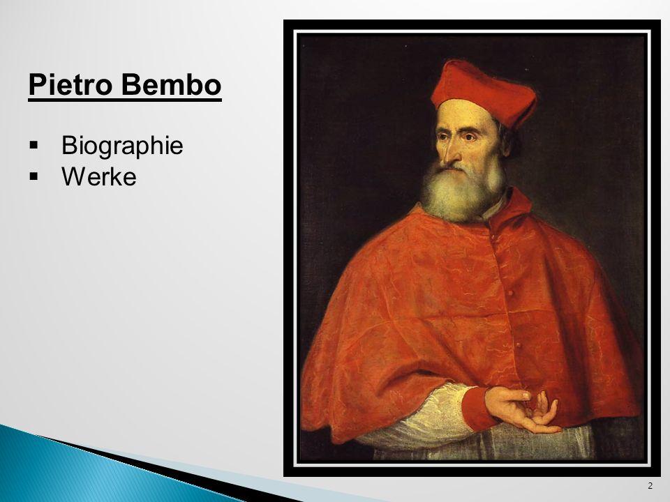 Pietro Bembo - ein italienischer humanistischer Gelehrter und Kardinal.