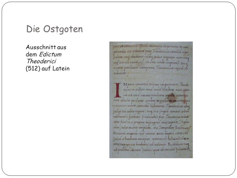 Ausschnitt aus dem Edictum Theoderici (512) auf Latein 11