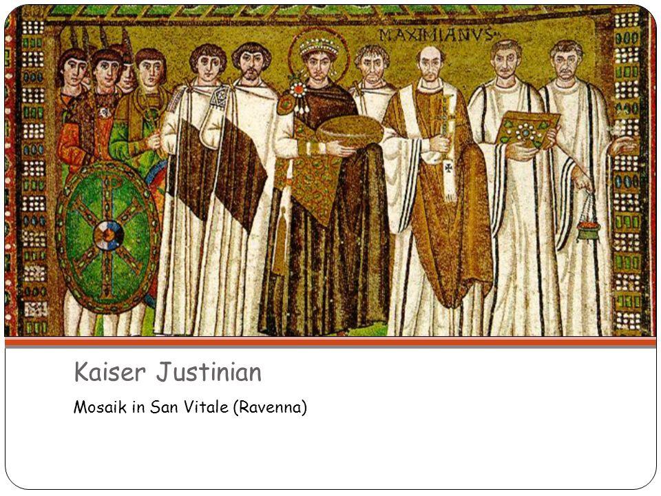 Kaiser Justinian Mosaik in San Vitale (Ravenna) 14