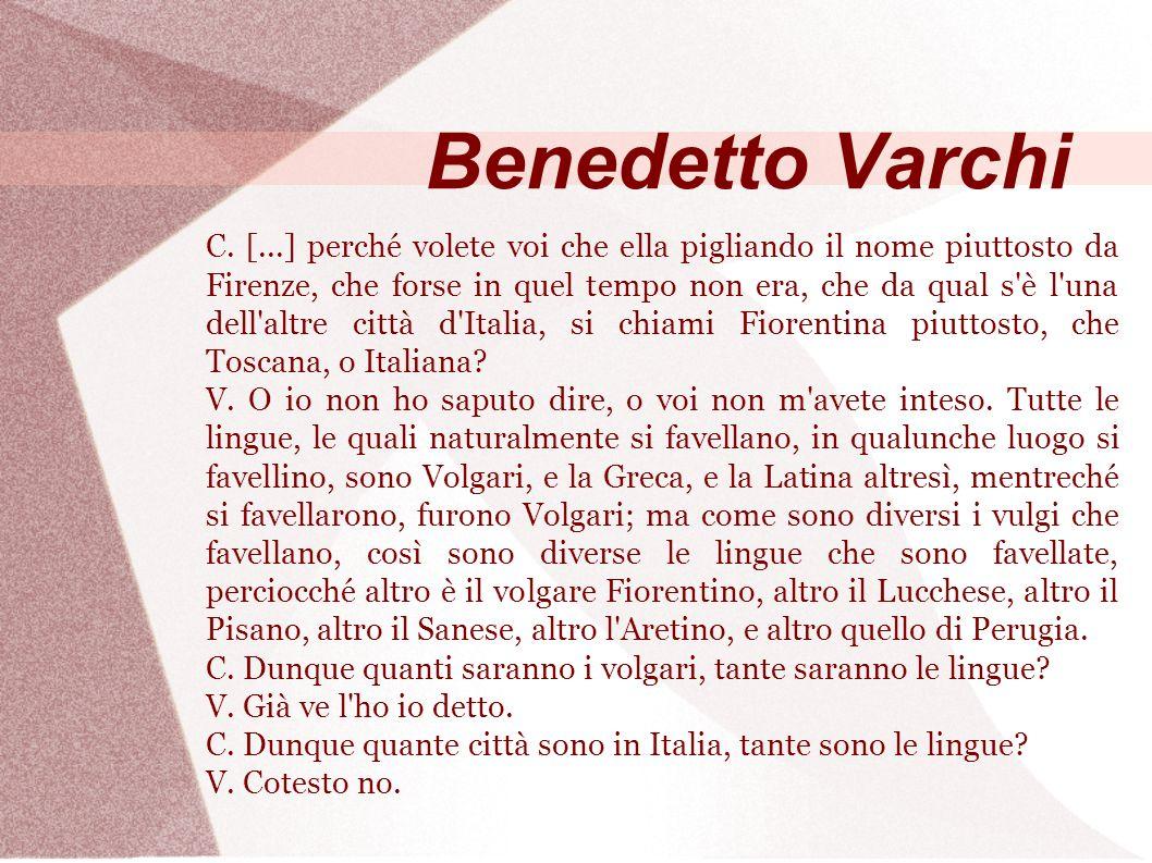 Benedetto Varchi C.