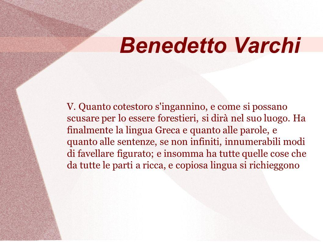 Benedetto Varchi V.