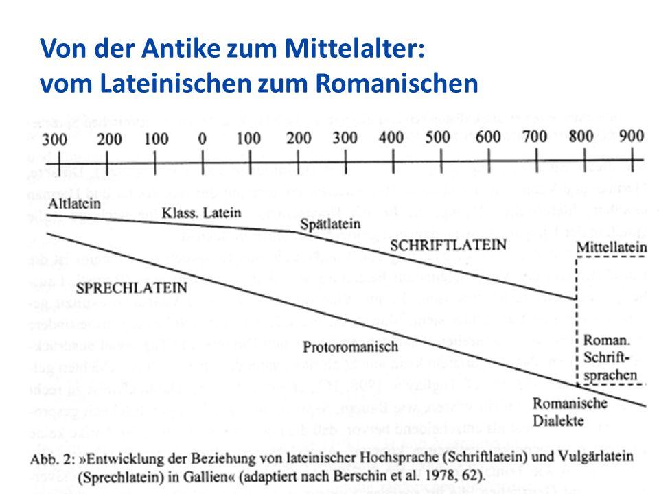 Von der Antike zum Mittelalter: vom Lateinischen zum Romanischen 54