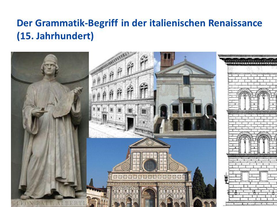 Der Grammatik-Begriff in der italienischen Renaissance (15. Jahrhundert) 70