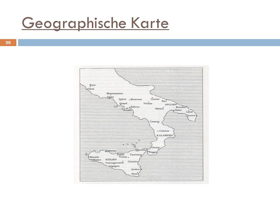 Geographische Karte 20