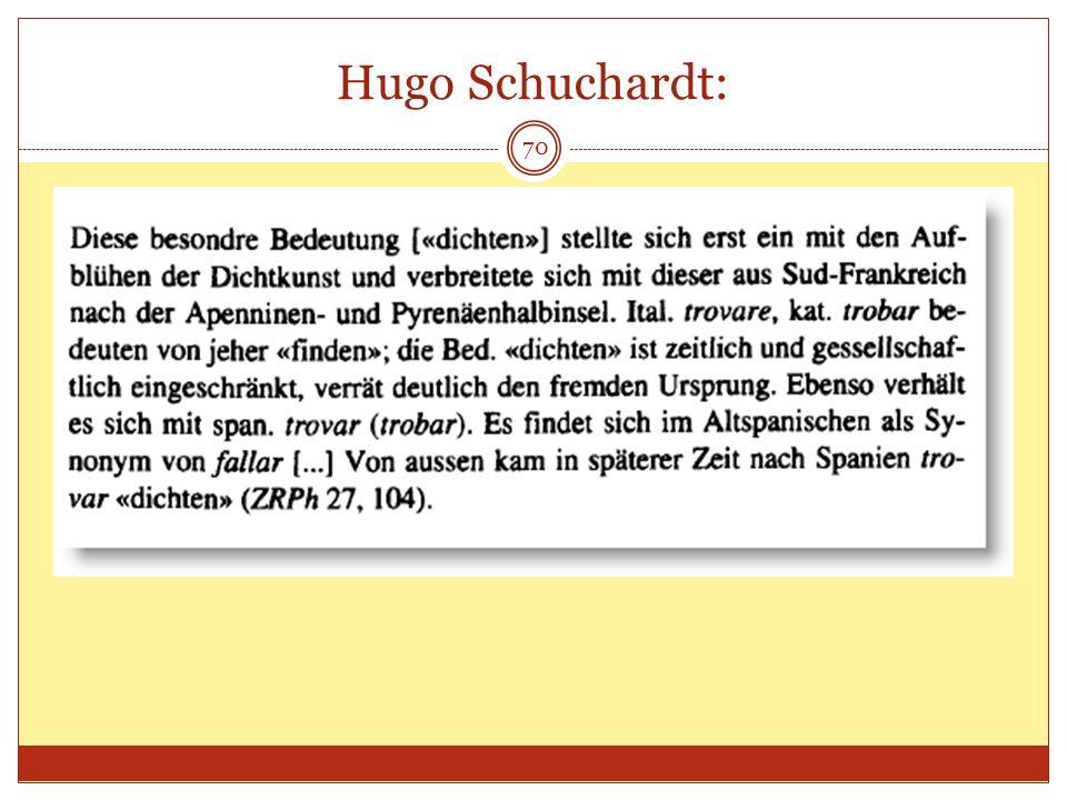 70 Hugo Schuchardt: