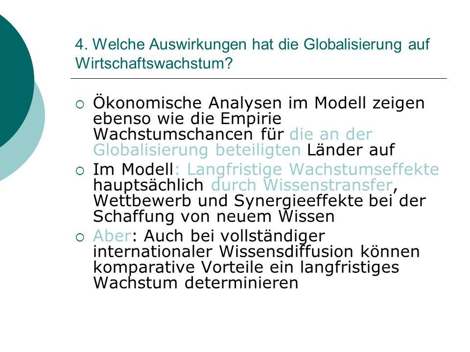 4.Welche Auswirkungen hat die Globalisierung auf Wirtschaftswachstum.