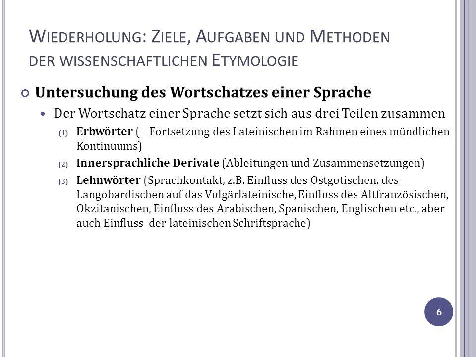 P HONETISCHER W ANDEL Die Veränderung von Segmenten Triphthongierung: die Entstehung von drei vokalischen Elementen aus einem Vokal ([o] > [w i]), z.B.