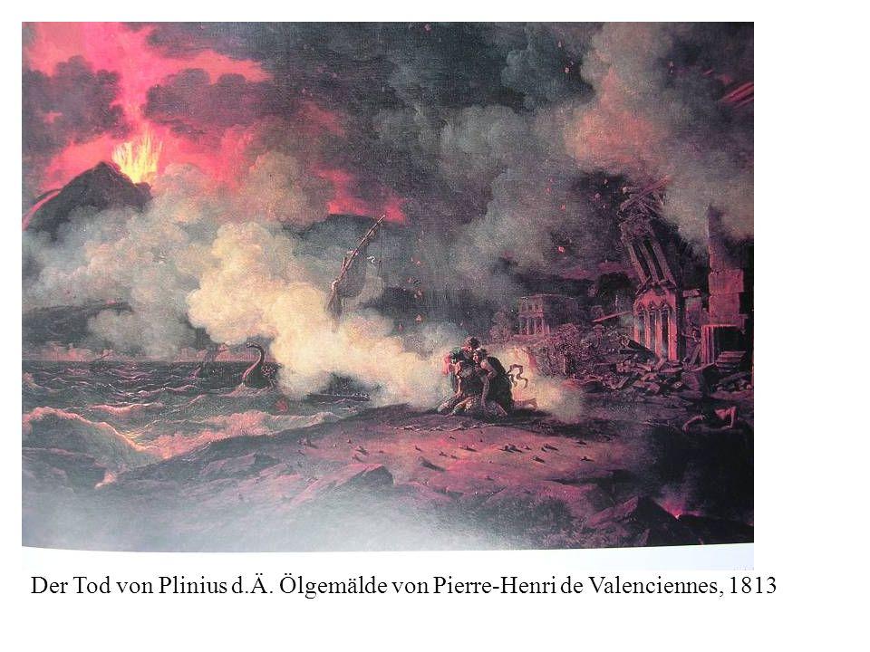 Der Tod von Plinius d.Ä. Ölgemälde von Pierre-Henri de Valenciennes, 1813