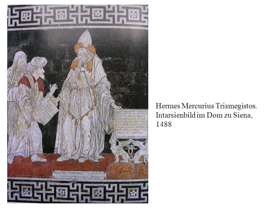 Hermes Mercurius Trismegistos. Intarsienbild im Dom zu Siena, 1488