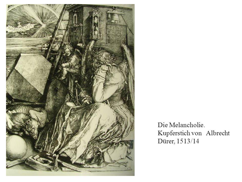 Die Melancholie. Kupferstich von Albrecht Dürer, 1513/14