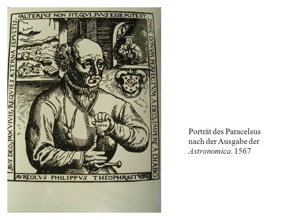 Porträt des Paracelsus nach der Ausgabe der Astronomica. 1567