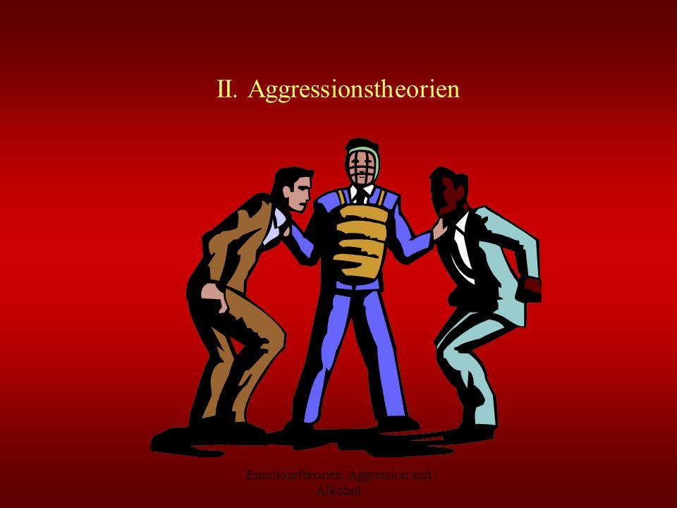 Emotionstheorien: Aggression und Alkohol II. Aggressionstheorien