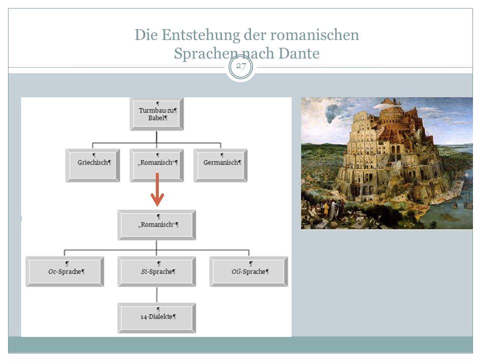 Die Entstehung der romanischen Sprachen nach Dante 27