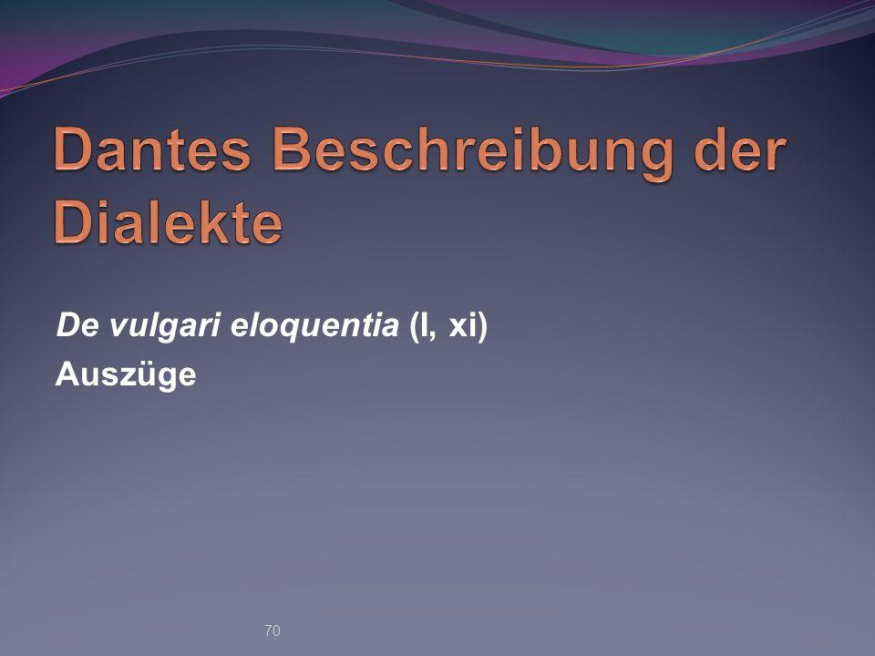 De vulgari eloquentia (I, xi) Auszüge 70