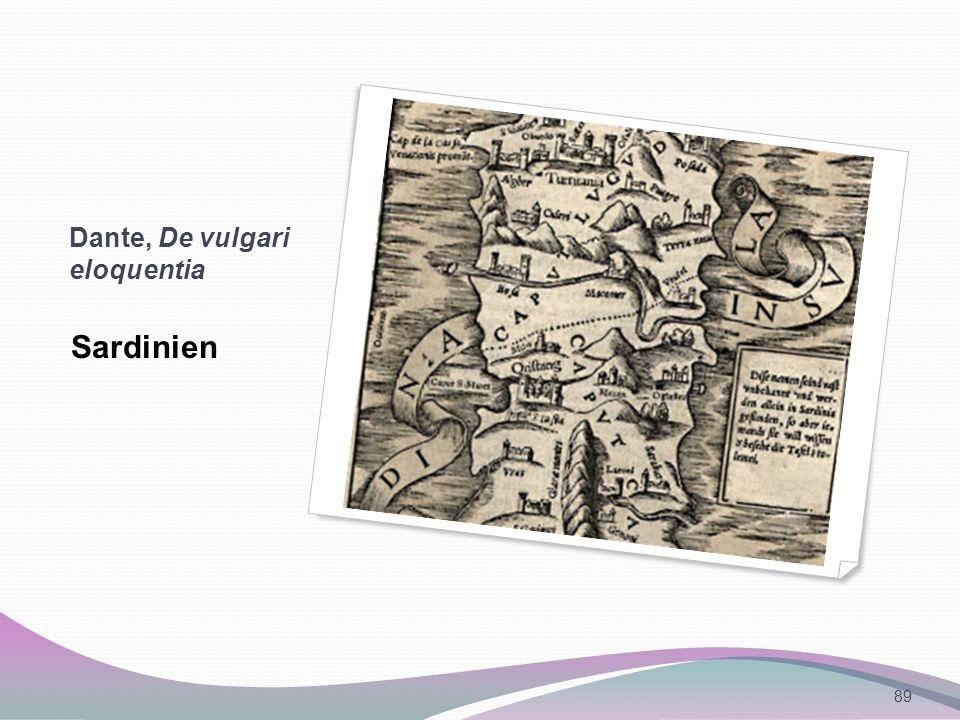 Dante, De vulgari eloquentia Sardinien 89
