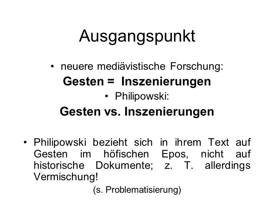 Geste und Inszenierung Wahrheit und Lesbarkeit von Körpern im höfischen Epos Silke Philipowski (2000)
